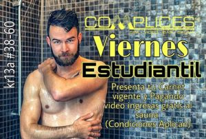 guia gay colombia – dia de sexo gay y promo para estudiantes en complices
