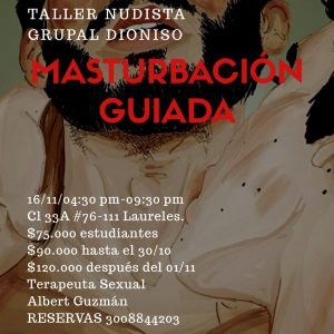 guia gay colombia - taller de masturbacion guiada